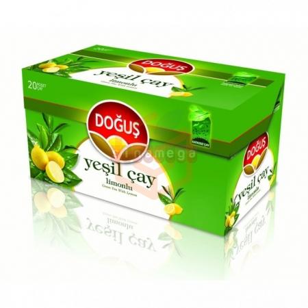 Doğuş Bitki Çayı Limonlu Yeşil Çay 20 - 12' li Koli Toptan - İçecekler - Bitki Çayları -