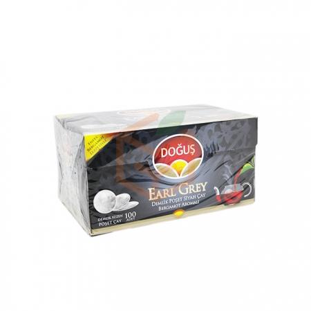 Doğuş Earl Grey 100' lü Demlik Poşet - 16' lı Koli Toptan - İçecekler - Çaylar -