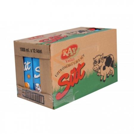 Kay Süt Yağlı  1 lt 12' li Koli | Gıda Ambarı