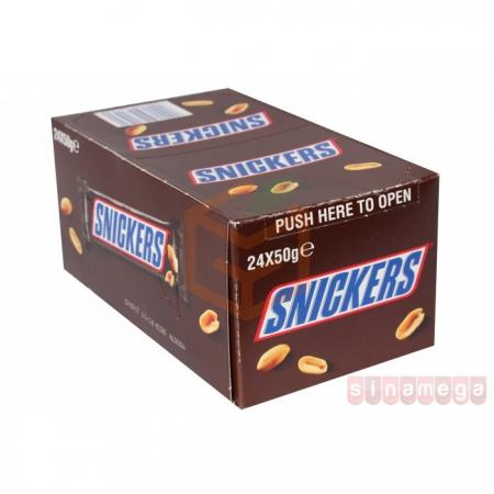 Snickers Classic Çikolata 50 Gr  24' lü Paket | Gıda Ambarı