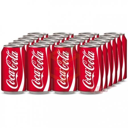 Coca Cola Kutu 330 ml  24' lü Koli Toptan - İçecekler - Soğuk İçecekler - Gazlı İçecekler -