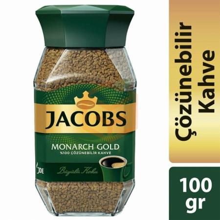 Jacobs Monarch (kavanoz) Gold 100 Gr  6' lı Koli   Gıda Ambarı
