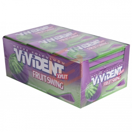 Vivident Yaprak Xylit Karpuz Asai Üzüm 18' li Paket | Gıda Ambarı