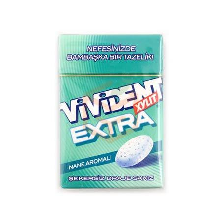 Vivident Xylit Extra 21 Gr 20' li Paket Toptan - Atıştırmalıklar - Sakız -