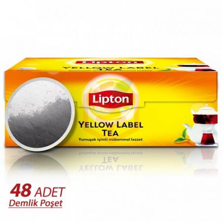 Lipton Yellow Label 48' li Demlik poşet  16' lı Koli | Gıda Ambarı