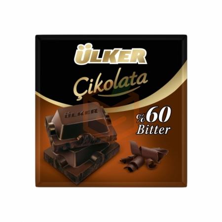 Ülker Bitter Kare Çikolata 60gr (ü-252-03) - 6lı Paket