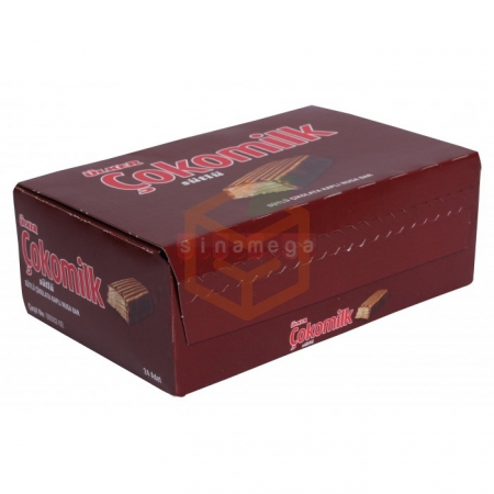 Ülker Çokomilk 24gr - 24`lü Paket Toptan - Atıştırmalıklar - Çikolata -