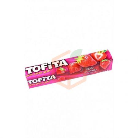 Kent Tofita Meyve SuluŞeker (çilek) 47 gr - 20`li Paket Toptan - Atıştırmalıklar - Jelibon -