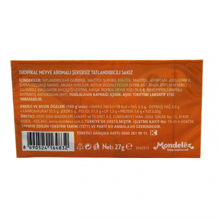 First Sensations 27 gr Tropikal Meyve Aromalı - 12' li Paket   Gıda Ambarı