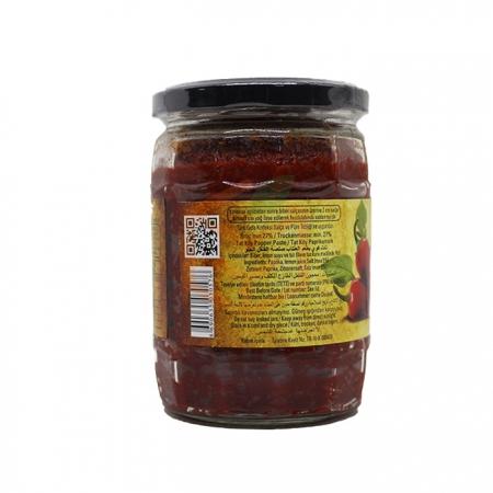 Tat Köy Tipi tatlı Biber Salçası  550 Gr 12' li Koli   Gıda Ambarı
