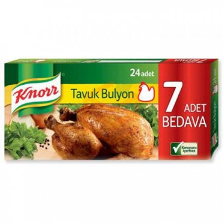 Knorr Tavuk Bulyon 24' lü 240 Gr  32'li Koli Toptan Baharatlar Bulyon