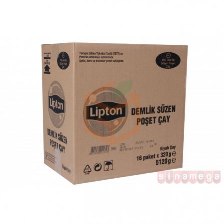 Lipton Early Grey 100' lü Demlik  16' lı Koli   Gıda Ambarı