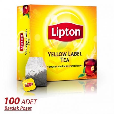 Lipton Yellow Label Bardak 100' lü  6' lı Koli | Gıda Ambarı