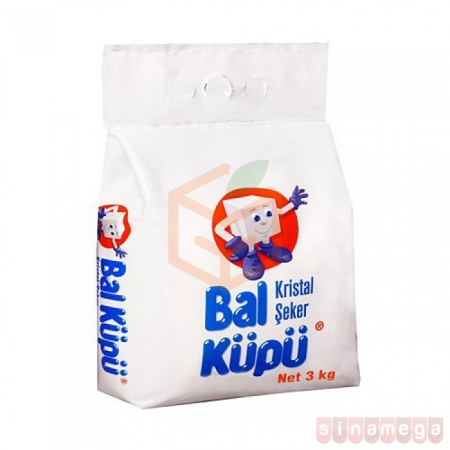 Balküpü Paket Toz Şeker 3 kg  10' lu Koli Toptan - Baharatlar - Şeker -