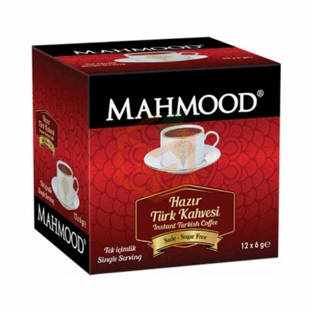 Mahmood Hazir Türk Kahvesi 6gr Sade-12`li Paket Toptan - İçecekler - Kahve -