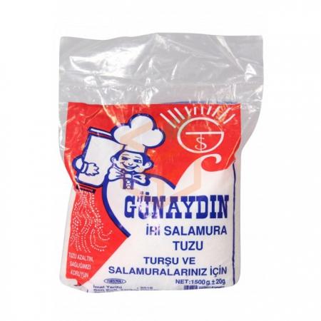 Günaydın Çakıl Tuz 1500 gr - 10'lu Koli | Gıda Ambarı