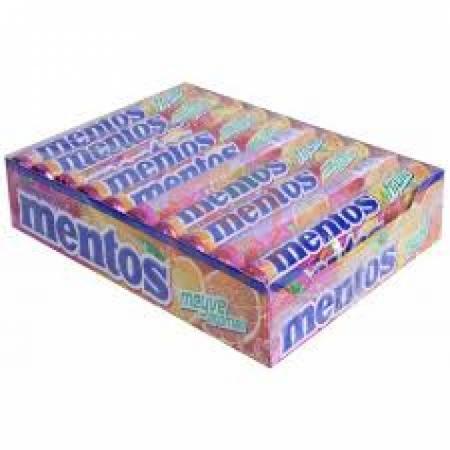 Mentos Şeker Fruit meyve Aromalı 20' li Paket | Gıda Ambarı
