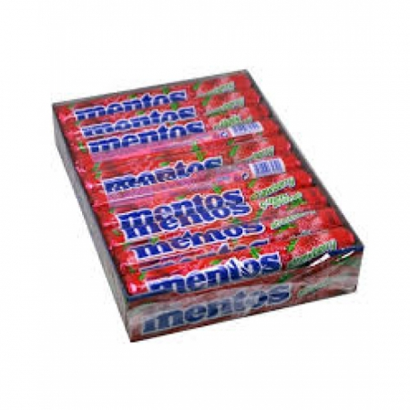 Mentos Şeker Çilek - 20li Paket