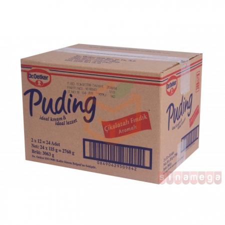 Dr.oetker Puding Çikolatalı Fındıklı 102 Gr 24' lü Koli Toptan -  - Pasta Malzemeleri -