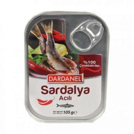 Dardanel (acılı) Sardalya 105gr - 12li Koli