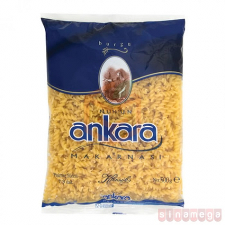 Ankara Makarna 500 Gr Burgu 20' li | Gıda Ambarı