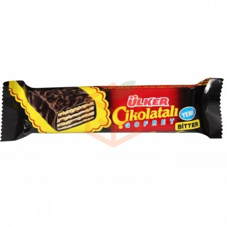 Ülker Bitter Çikolatalı Gofret 36 Gr 24' lü Paket | Gıda Ambarı