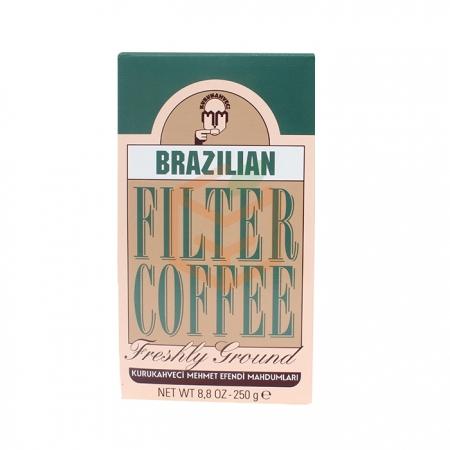 Mehmet Efendi Brazilian Filter Coffee 250 Gr 12' li Koli Toptan İçecekler Kahve Kahve