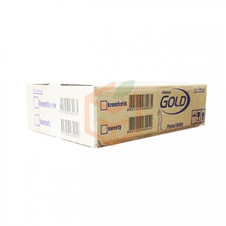 Gold (crunchy) Parçacıklı Krem Fıstık 340 Gr  12' li Koli   Gıda Ambarı