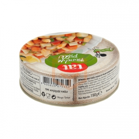 Tat Fasulye Pilaki 190 Gr  12' li Koli   Gıda Ambarı