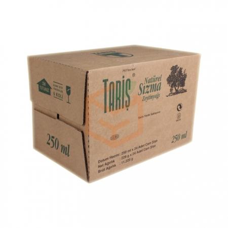 Tariş Naturel Sızma Zeytinyağı 250 ml 24' lü Koli | Gıda Ambarı