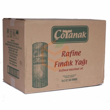Çotanak Rafine Fındık Yağı 2 Lt  6' lı Koli | Gıda Ambarı