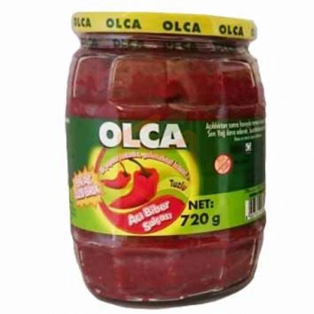 Olca Cam Acı Biber Salçası 720 Gr 12' li Koli | Gıda Ambarı