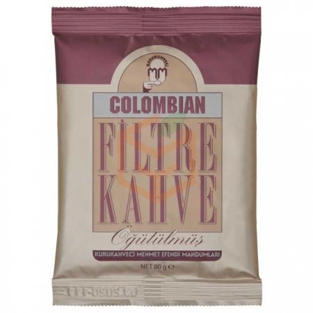 Mehmet Efendi 80 Gr Colombian Filtre Kahve Öğütülmüş 12' li Koli | Gıda Ambarı