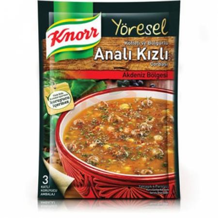 Knorr Yöresel Bulgurlu Analı Kızlı Çorba 12' li Paket | Gıda Ambarı