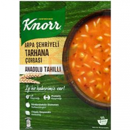 Knorr Yöresel Arpa Şehriyeli Tarhana Çorba  12' li Paket | Gıda Ambarı