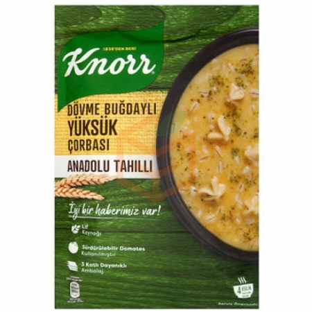 Knorr Yöresel Dövme Buğdaylı Yüksük Çorba 12' li Paket | Gıda Ambarı