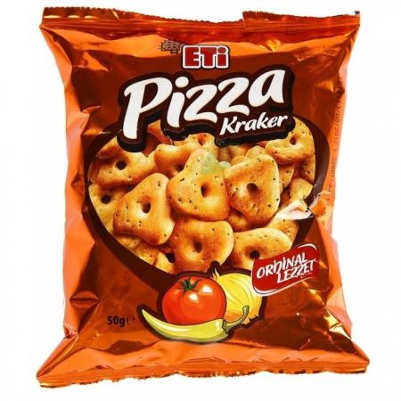 Eti Pizza Kraker 38 gr (k:25404)-21' lı Koli Toptan Atıştırmalıklar Kraker