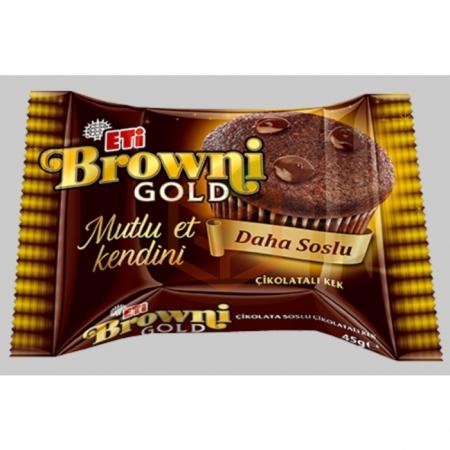 Eti Browni Gold Çikolatalı Kek 45 gr (k:46373)-24' lü Koli | Gıda Ambarı
