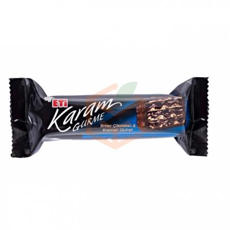 Eti Karam Gurme Bitter Çikolatalı Gofret 50 gr 24' lü Koli | Gıda Ambarı