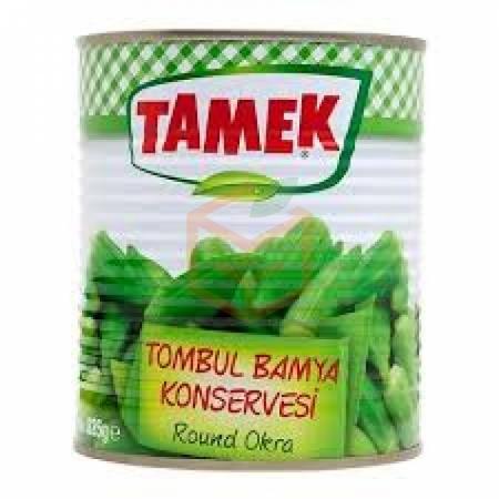 Tamek Tombul Bamya Konservesi 825 Gr Teneke 12' li Koli   Gıda Ambarı