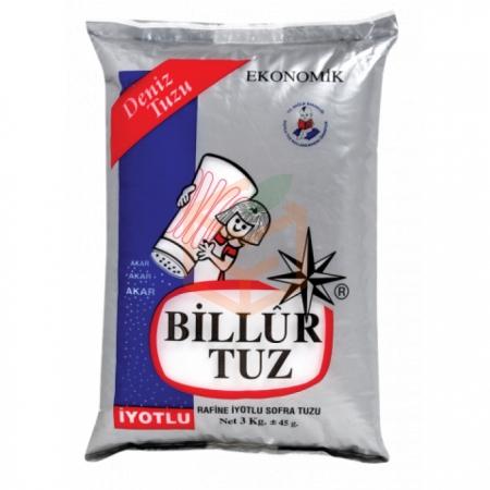 Billur Tuz 3 kg 6' lı Koli Toptan - Baharatlar - Tuz -