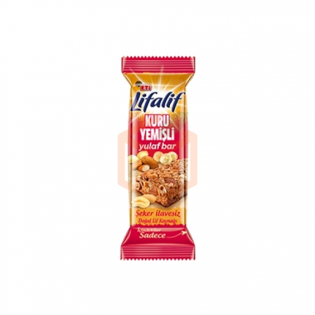 Eti Lifalif Kuru Yemişli Yulaf Bar 35 Gr 12' li Paket Toptan - Atıştırmalıklar - Mısır Gevreği -
