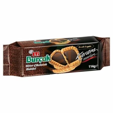 Eti Burçak Bitter Çikolatalı Bisküvi 114 Gr  12' li Koli | Gıda Ambarı