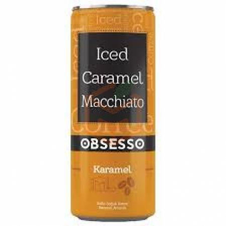 Obsesso Iced Caramel Macchiato 250 ml 12' li Koli Toptan -  - Pasta Malzemeleri -