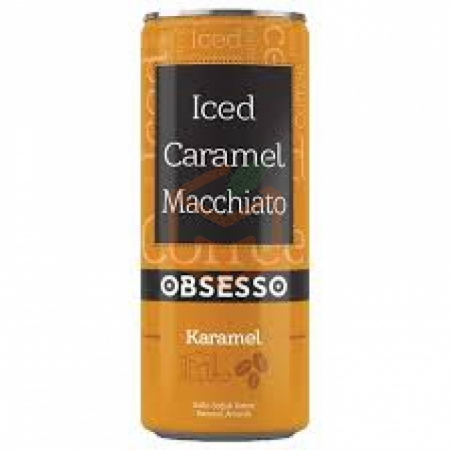 Obsesso Iced Caramel Macchiato 250 ml 12' li Koli | Gıda Ambarı
